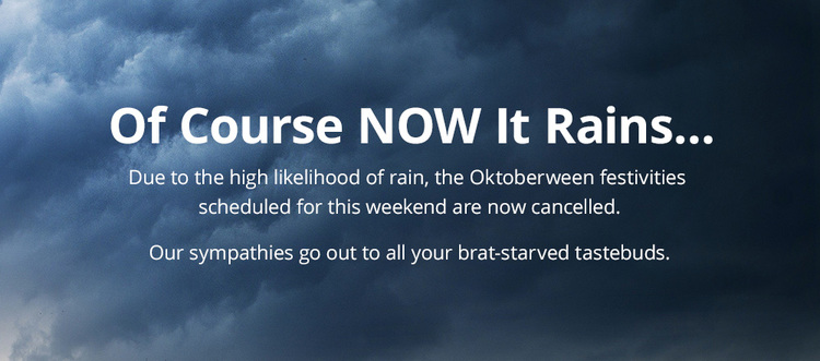 2015 Oktoberween — CANCELLED Due To Rain